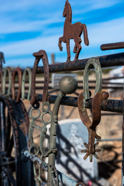 Fence detail in Traditional Village of Agua Fria