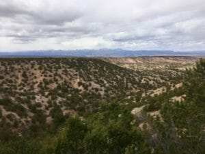 The landscape of Tesuque, NM