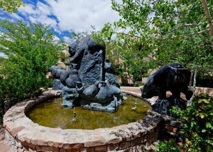 Quail Run Santa Fe Statue
